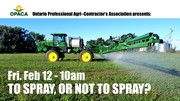 To Spray or Not to Spray? Panel Discussion