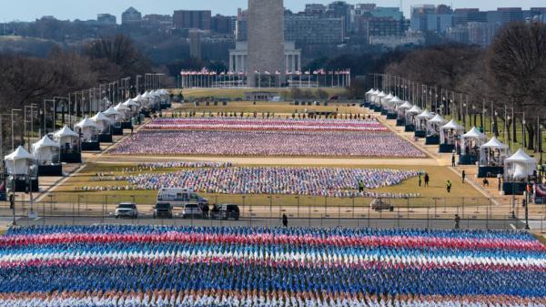 Flags Cheer For Dear Leader