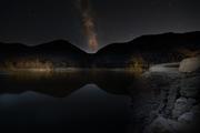 Lago di Valnoci di notte