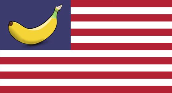 banana republic biden flag