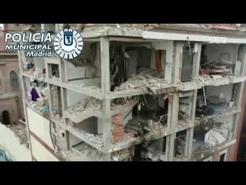 DRON: Explosión en el centro de Madrid: la zona cero