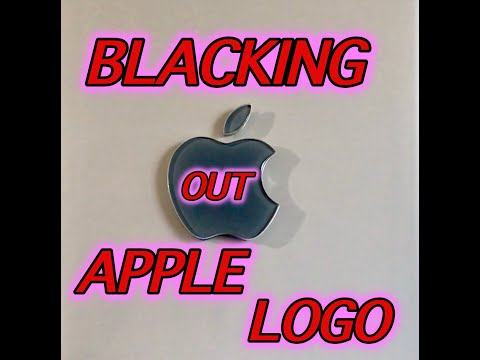BLACK OUT THE APPLE  LOGO LIGHT G4 CUBE