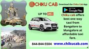 One Way Taxi from Bangalore to Mangalore-Chikucab