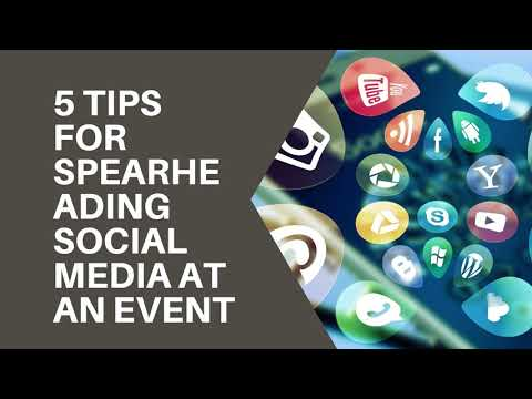 5 Tips for Spearheading Social Media at an Event