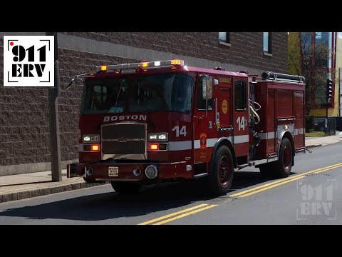 Boston Fire Engine 14 Responding