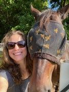 Bricole Reincke with her horse Henry
