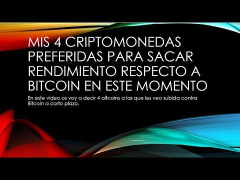 Mis 4 Criptomonedas preferidas contra Bitcoin