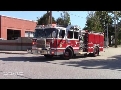 Manchester Fire Engine 7 Responding