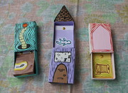 Flipbooks in their matchbox homes