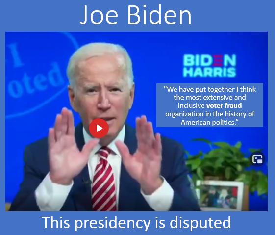 This Presidency is Disputed