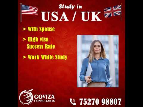 Apply for UK / USA Study Visa without IELTS with Spouse