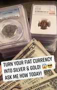 fiat currency gold and sikver pic