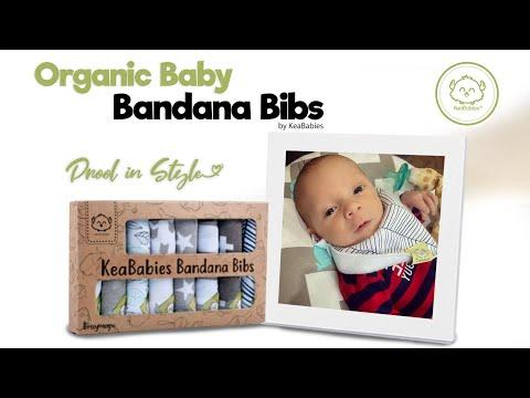 Super Absorbent & Adjustable Snaps   8-Pack Stylish & Cute Organic Baby Bandana Bibs