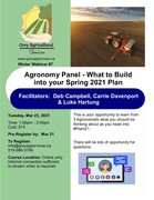 Agronomy Panel - What to build into your 2021 Spring Plan
