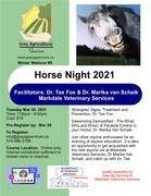 Horse Night: Strangles & Deworming