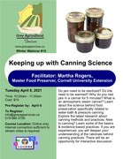 Keeping up with canning Science