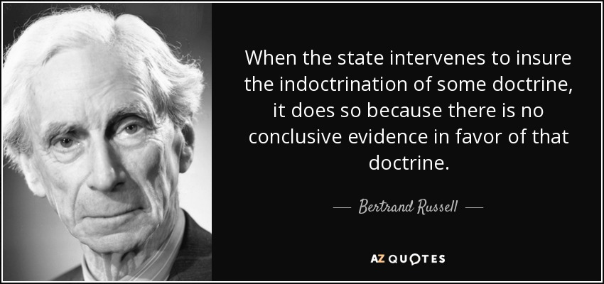 bertrand russell - indoctrination