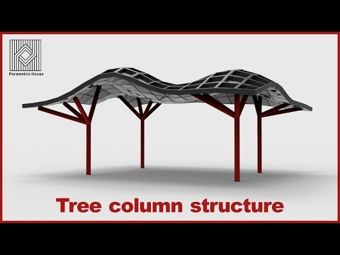 Tree Columns structure (Grasshopper Tutorial)