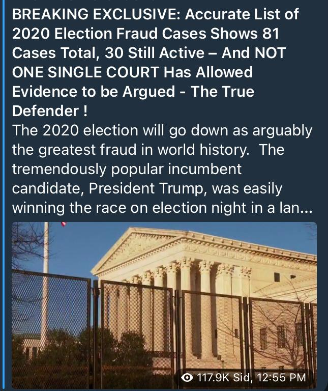 2020 Election Fraud Cases