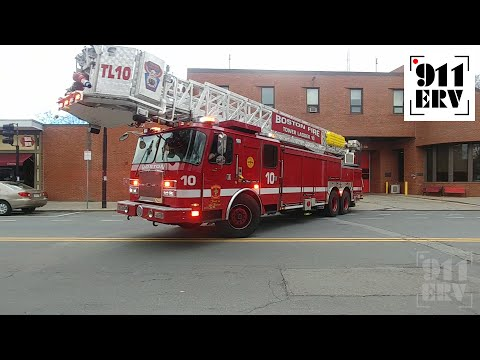 Boston Fire Tower Ladder 10 Responding