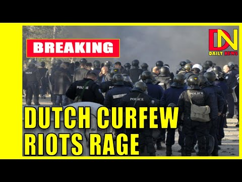 Covid: Dutch curfew riots rage for third night.