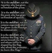 It is the soldier, not the press who gave us Freedom of the Press