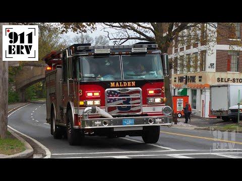 Malden Fire Engine 3 Arriving at Fire Scene