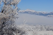 Mt. Meeker and fog after snow storm