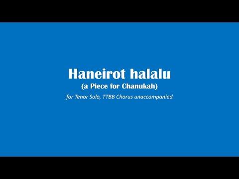 Haneirot halalu (a Piece for Chanukah - Version for Men's Chorus)