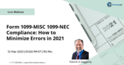 Form 1099-MISC 1099-NEC Compliance: How to Minimize Errors in 2021
