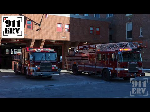 Boston Engine 14 Spare and Ladder 4 Spare Responding