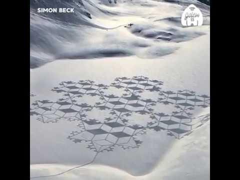 Simon Beck 'arte nella neve