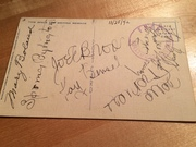 Hollywood Canteen multi signed 1942 post card