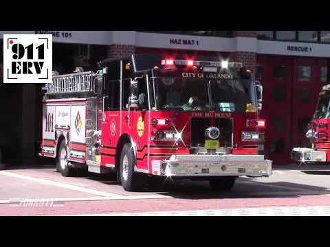Orlando Fire Department Engine 101 Responding