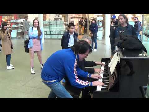 Guy In Blue Creeped Up To The Piano...Then THIS Happened!