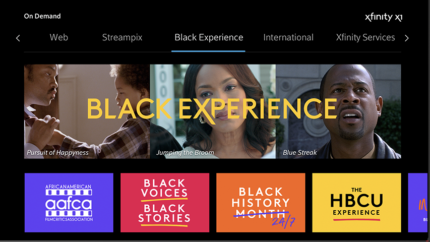 Comcast Launches 'Black Experience' on Xfinity