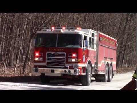 Goffstown, NH Fire Department Engine 2 Responding