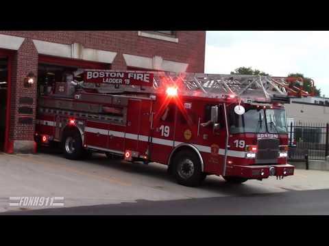 Boston Ladder 19 and Engine 2 Responding [Hi-Lo]