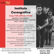 Ballet Hispánico Calls for Applications From Emerging Latinx Choreographers and Filmmakers For 2021 Instituto Coreográfico DEADLINE: March 1, 2021