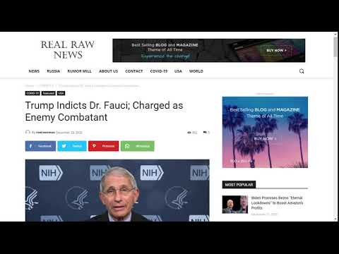 Trump Indicts Dr. Fauci; Charged as Enemy Combatant