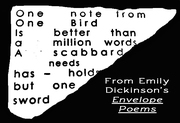 """Are These """"Envelope Poems"""" By Dickinson Considered Vispo or Concrete?"""