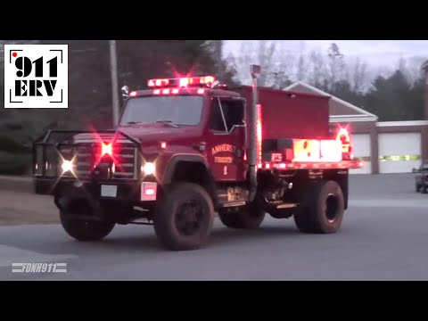 Amherst, NH Fire Department Forestry 1 and Forestry 2 Responding