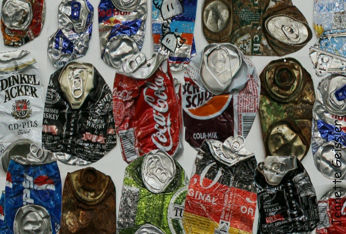 Jeanette Geissler crushed cans 2021