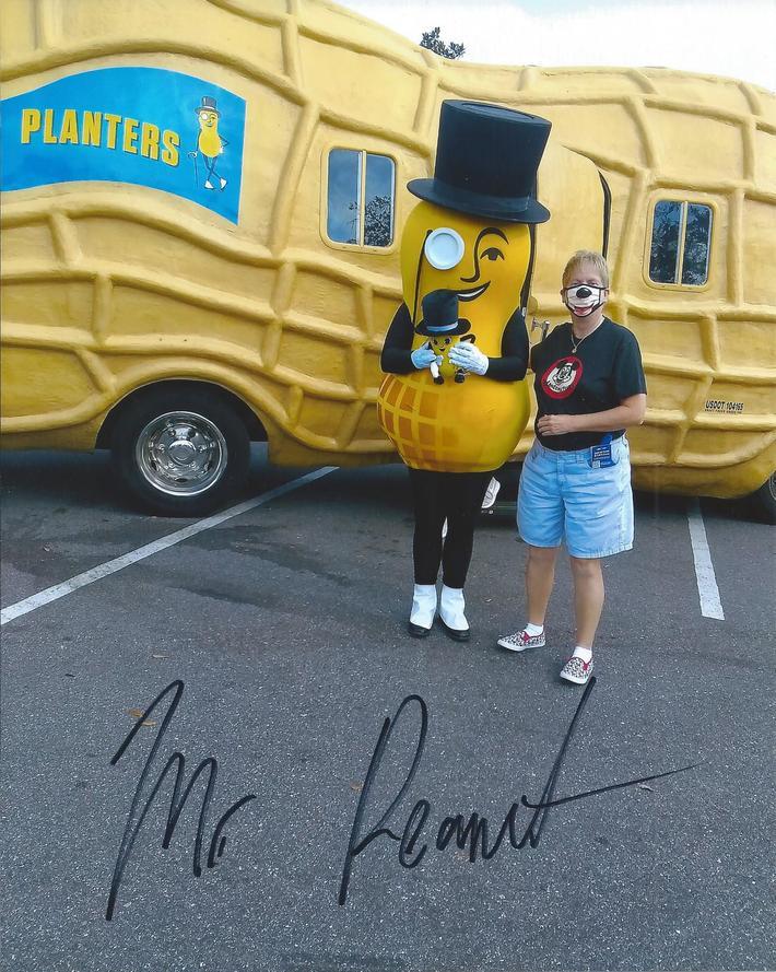 Mr. Peanut signed my photo (taken on Jan. 31, 2021) today, Feb