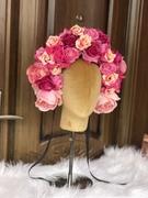Flamboyant pink flower crown