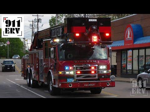 Hingham Fire Quint 1 Responding