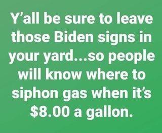 Gas $8 gallon