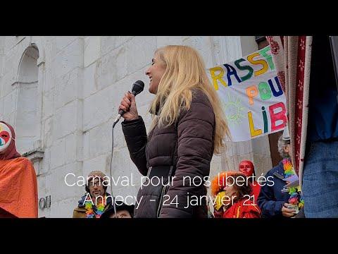 Femme libérée chez Carnaval d'Annecy