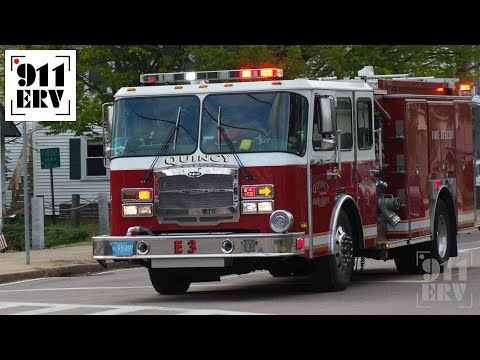 Quincy Fire Engine 3 Responding
