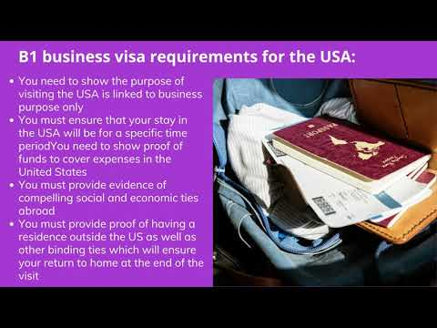 B1 Business Visa Requirements for the USA